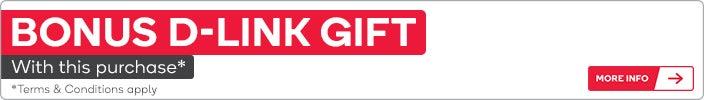 Bonus D-Link Gift via redemption only