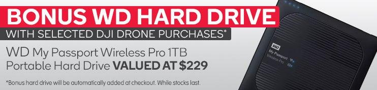 BONUS WD 1TB Portable Hard Drive