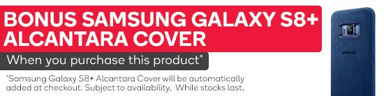 Bonus Samsung Galaxy S8+ Alcantara cover when you purchase this product. Cover Will be automatically added at checkout. Subject to avaliability. While Stocks Last
