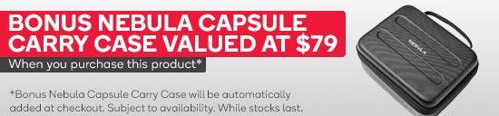 Nebula Capsule Pocket Cinema with BONUS Carry Case With This Purchase