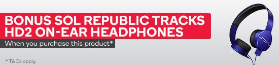 Bonus Sol Republic Tracks HD2 On-Ear Headphones (Blue) when you purchase a selected phone or tablet. Both items must be purchased and added to the cart in the same transaction. Limit 1 headphones per transaction. Subject to availability.  Offer ends 11:59PM (AEST) 30 June 2019 unless extended or sold out prior.