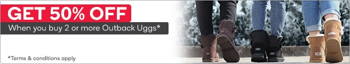 Get 50% off when you buy 2 or more Outback Uggs
