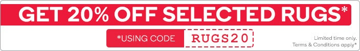 Get 20% OFF Selected Rugs Using the Code 'RUGS20' at Checkout*