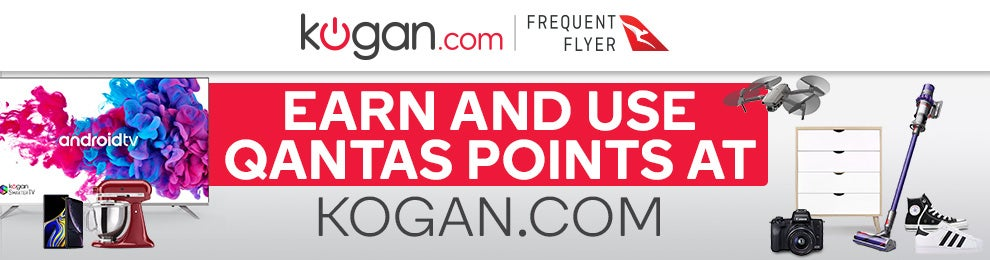 Earn Qantas Frequent Flyer Points when you shop at Kogan.com