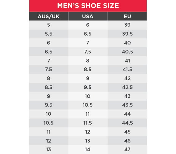 King Gee Men's Size chart