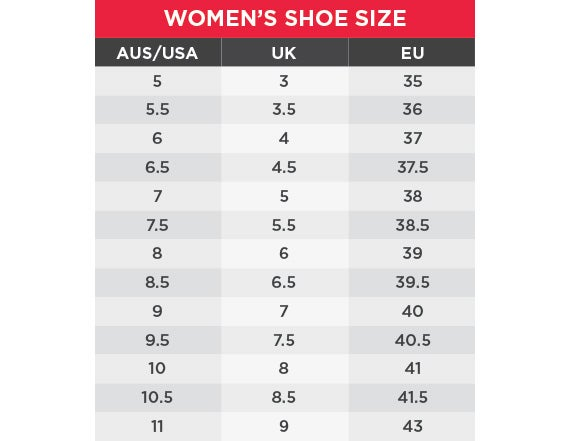 King Gee Women's Size chart
