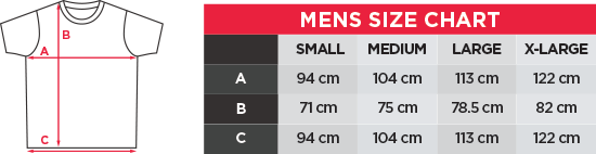bay6 Men's T-Shirt Size chart