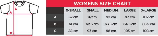 bay6 Women's T-Shirt Size chart