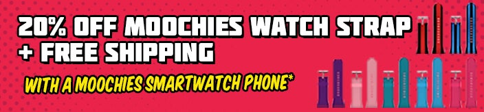 20% Off Moochies Watch Straps + Free Shipping When You Purchase an Eligible Moochies Smartwatch Phone for Kids