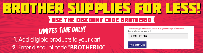 10% OFF Brother Ink & Toner Cartridges