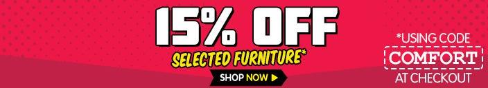 Extra 15% OFF Furniture Stocktake Sale*