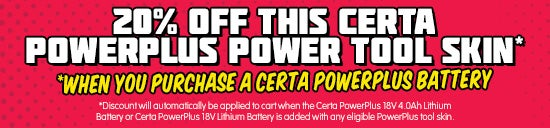 20% Off Certa PowerPlus Skin with Battery Purchase*