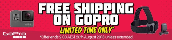 Free Shipping on selected GoPro! Offer expires 2:00AM AEST 20 August 2018
