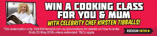 Win a cooking class for you and your mum