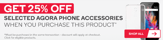 Get 25% off selected Agora phone accessories when you purchase this product.