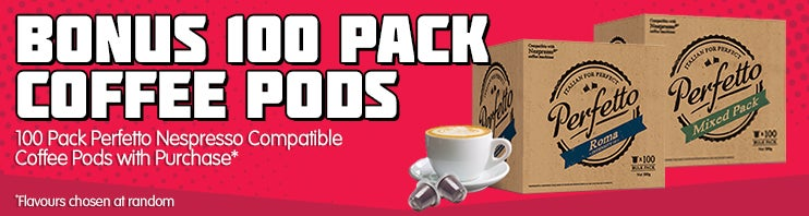 Bonus 100 Pack Coffee Pods