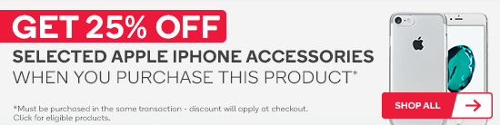 Get 25% off selected iPhone accessories when you purchase this product.