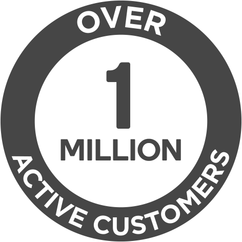Over 1 Million Active Customer