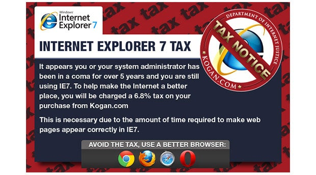 New Internet Explorer 7 Tax :)