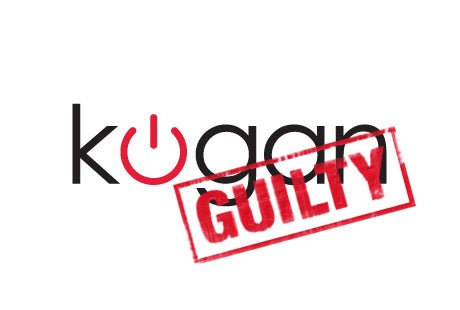 Kogan pleads guilty to price fixing :)