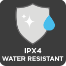 IPX4 Water Resistant