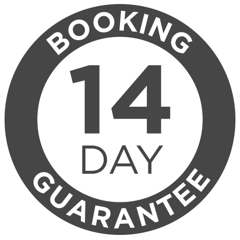 14 Day Booking Guarantee