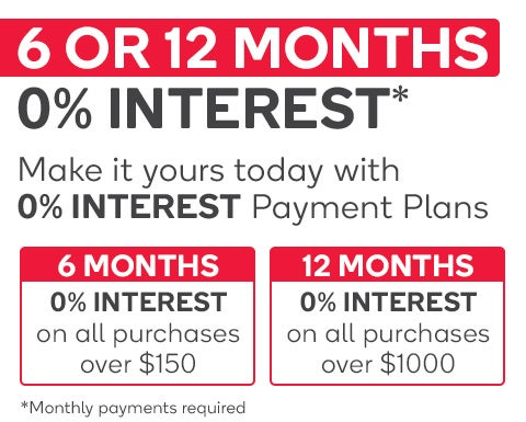 6 or 12 months. 0% interest free.