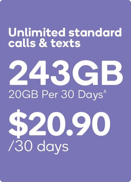 20GB Kogan Mobile PrePaid Plan