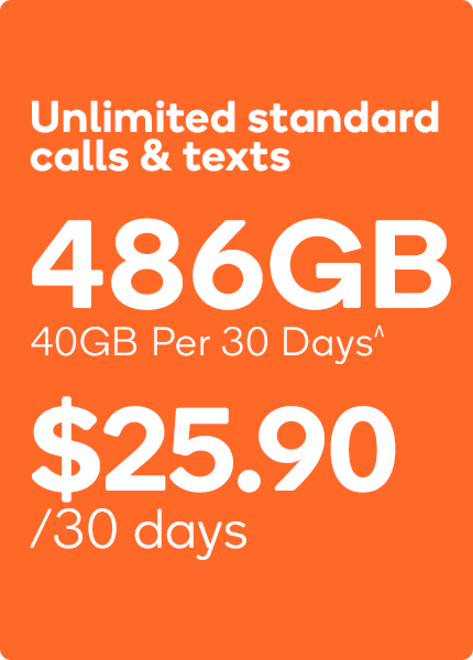 40GB Kogan Mobile PrePaid Plan