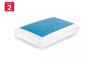 Ovela Set of 2 Cooling Gel Top Memory Foam Pillow