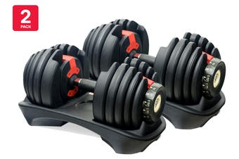 2 Pack Fortis 24kg Smart Adjustable Dumbbell