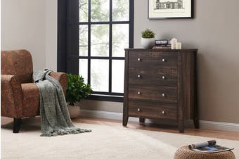 Shangri-La Chest of 4 Drawers - Camden Collection (Dark Oak)