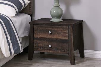 Shangri-La 2 Drawer Bedside Table - Camden Collection (Dark Oak)