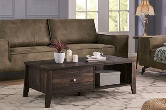 Shangri-La Coffee Table with Storage - Camden Collection (Dark Oak)