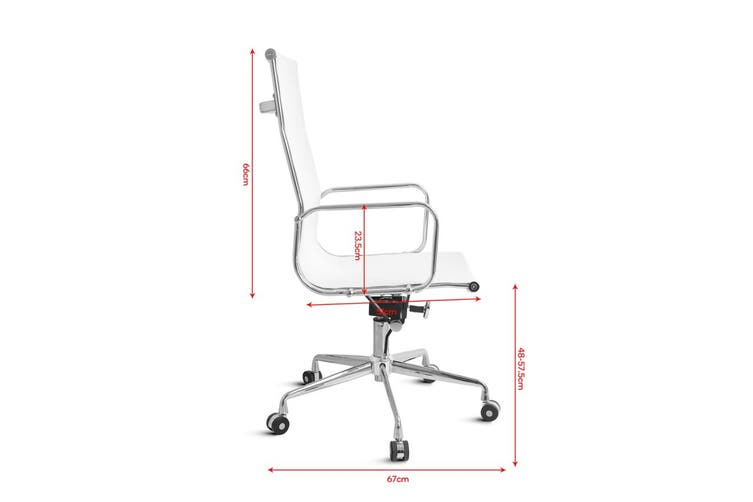 Ergolux Eames Replica High Back Mesh Office Chair - Executive Collection (White)
