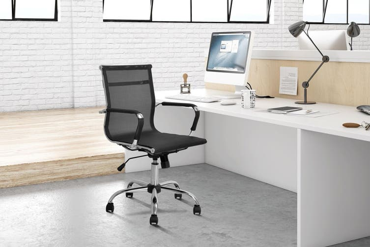 Ergolux Eames Replica Low Back Mesh Office Chair (Black)