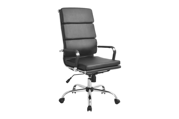 Ergolux Eames Replica High Back Padded Office Chair (Black)