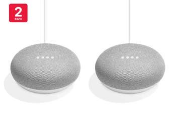 Google Home Mini (Chalk) - Australian Model - 2 Pack