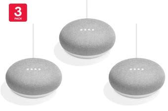 Google Home Mini (Chalk) - Australian Model - 3 Pack