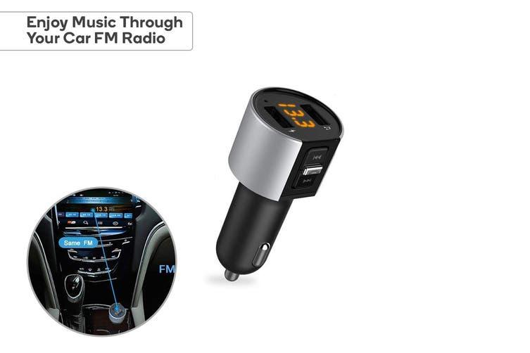 Kogan Wireless Car Bluetooth FM Transmitter