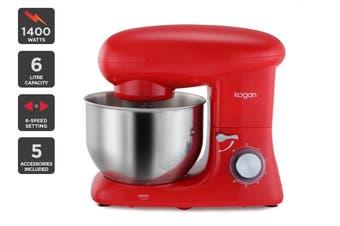 Kogan 1400W Classic Stand Mixer (Red)
