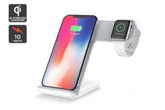 Kogan Dual Fast Wireless Qi Charger (White)