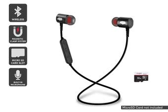 Kogan Wireless Magnetic Bluetooth Earphones with MicroSD Card Slot