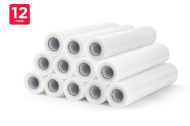 12 Pack Food Vacuum Sealer Rolls (28cm x 6m)