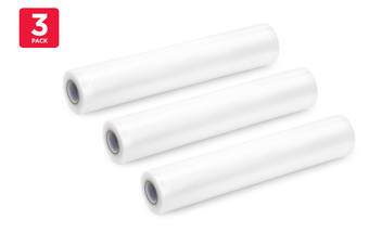 3 Pack Food Vacuum Sealer Rolls (28cm x 6m)