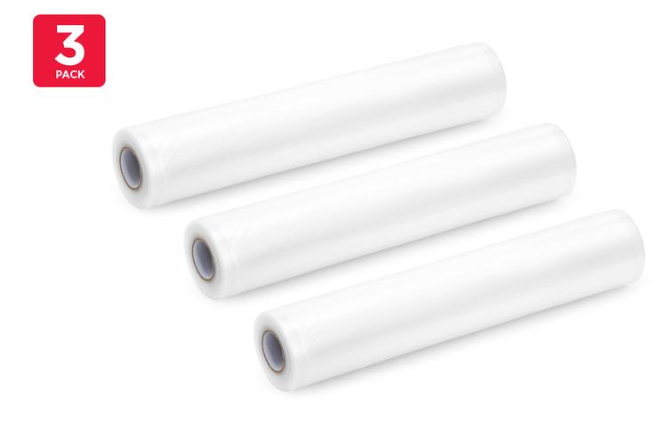 3 Pack Food Vacuum Sealer Rolls (28cm x 6m)