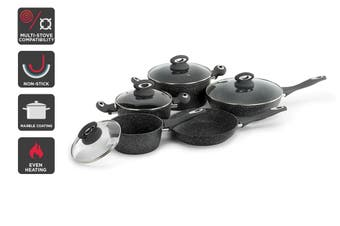 Ovela 9 Piece Marble Non-Stick Cookware Set