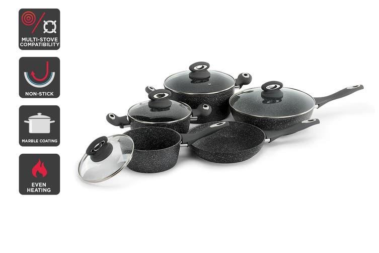 Ovela 9 Piece Marble Non-Stick Cookware Set