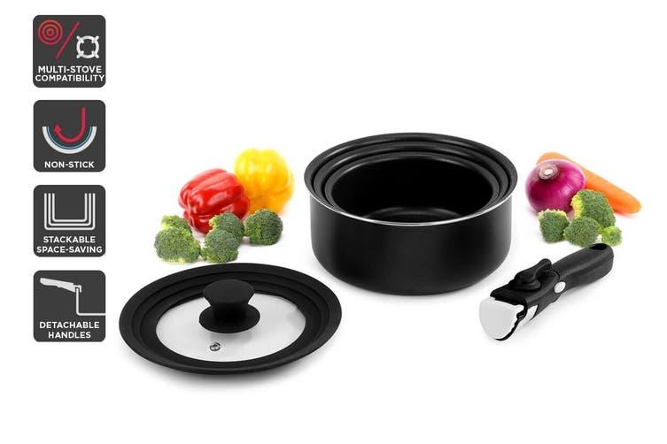 Ovela Moderno 5 Piece Stackable Non-stick Cookware Set