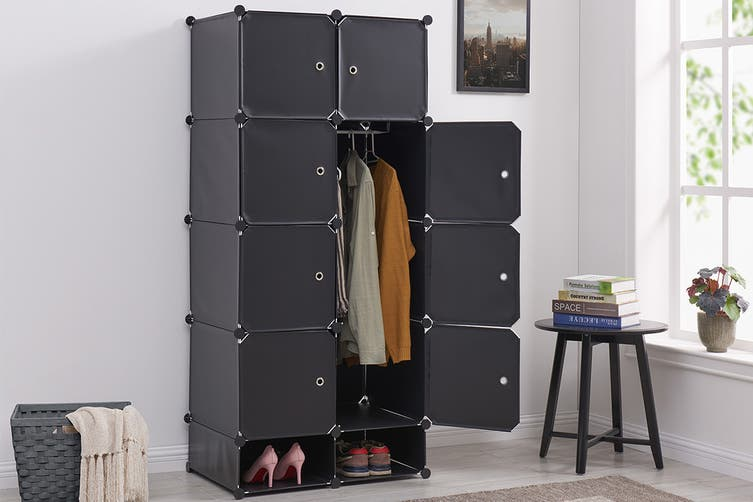 Ovela 8 Cube Modular Storage Organiser (Matte Black)